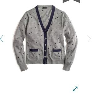 J. CREW Harlow Embroidered Star Wool Blend Sweater